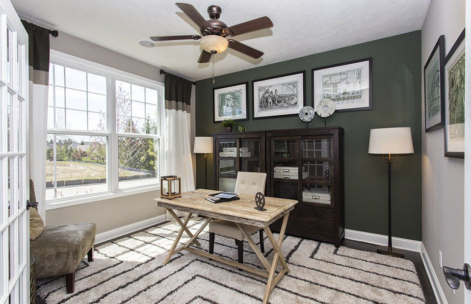 Transitional Home Office With Flush Light Carpet Cost Plus World Market Campaign Desk