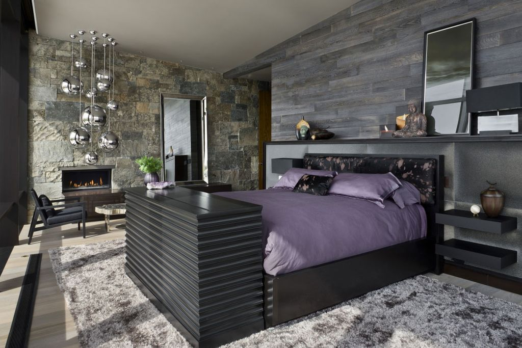 Contemporary guest bedroom by lang lequang zillow digs zillow contemporary guest bedroom with way basics floating wall shelf tom dixon mirror ball pendants mozeypictures Choice Image