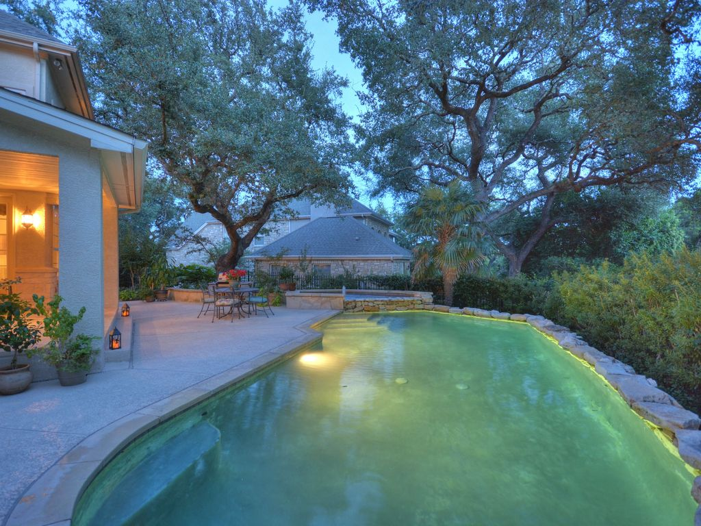 Pool Beds swimming pool with raised beds & fence in austin, tx | zillow digs