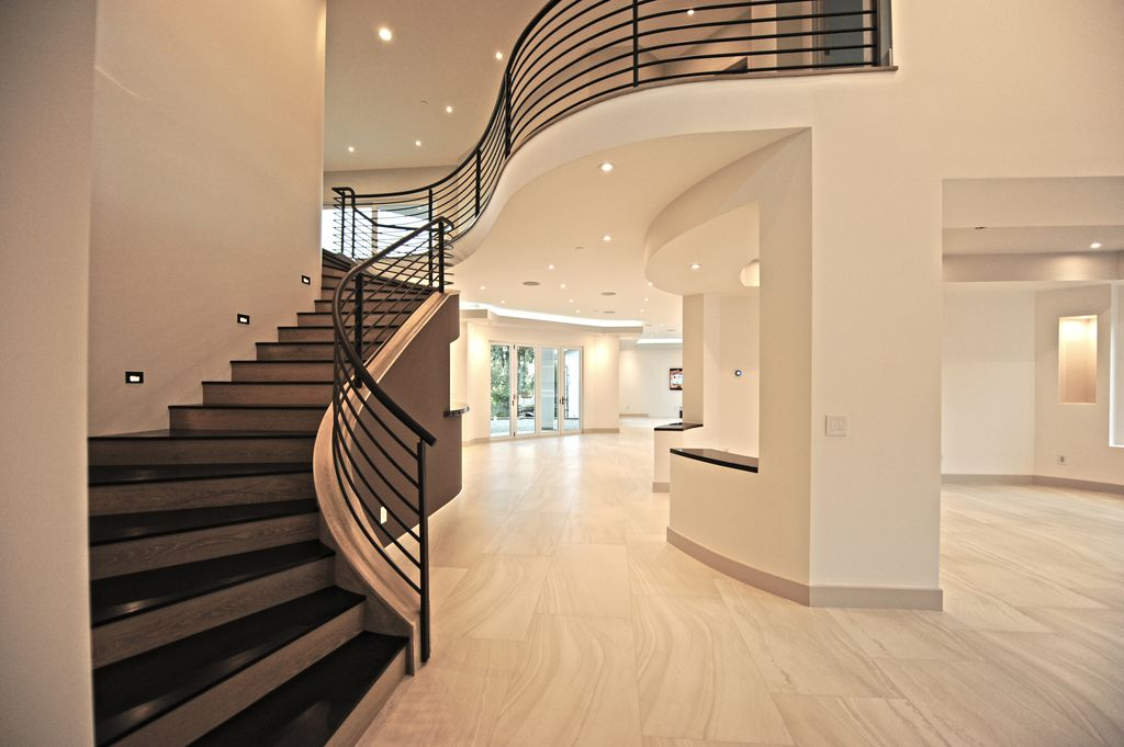 Contemporary Staircase with Balcony High ceiling Zillow Digs