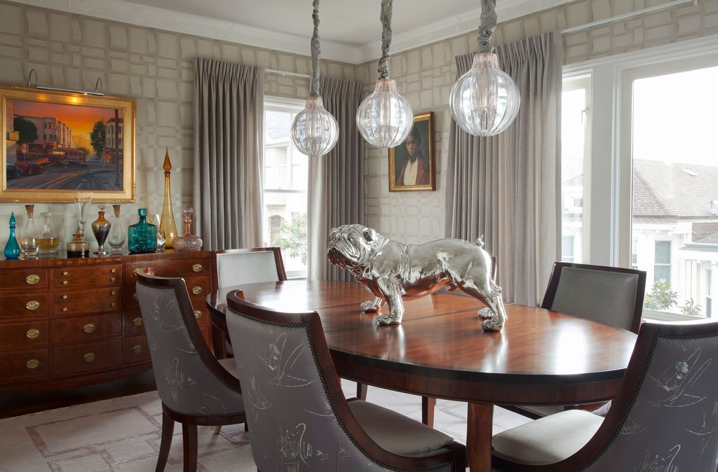 contemporary dining room with carpetsteven favreau | zillow