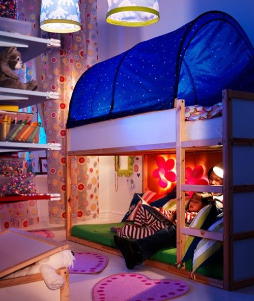 Eclectic Kids Bedroom with Ikea Kura Bed Tent Ikea kura bunk bed & Eclectic Kids Bedroom by Tony Leocadio | Zillow Digs | Zillow