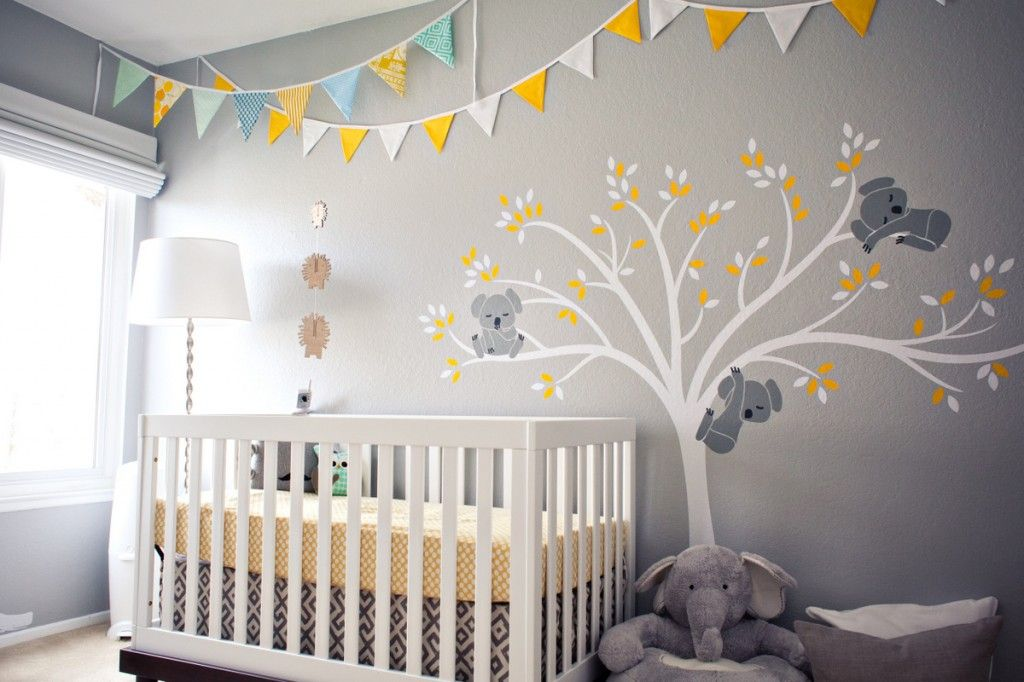 Contemporary Nursery With LeoLittleLion Modern Koala Cuteness Nursery Wall  Decal, Carpet, Oeuf Classic Crib