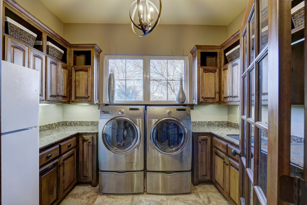 4 Tags Traditional Laundry Room With Samsung 4.0 Cu. Ft. Steam Front Load  Washer,