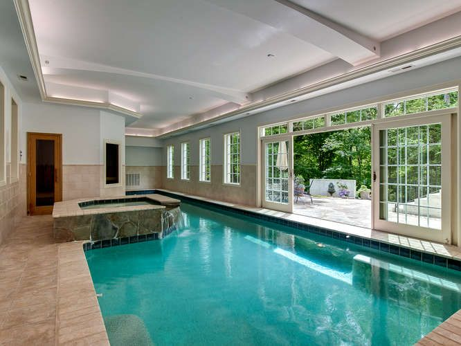 Contemporary Swimming Pool With Exterior Tile Floors Indoor Pool In Charlotte Nc Zillow