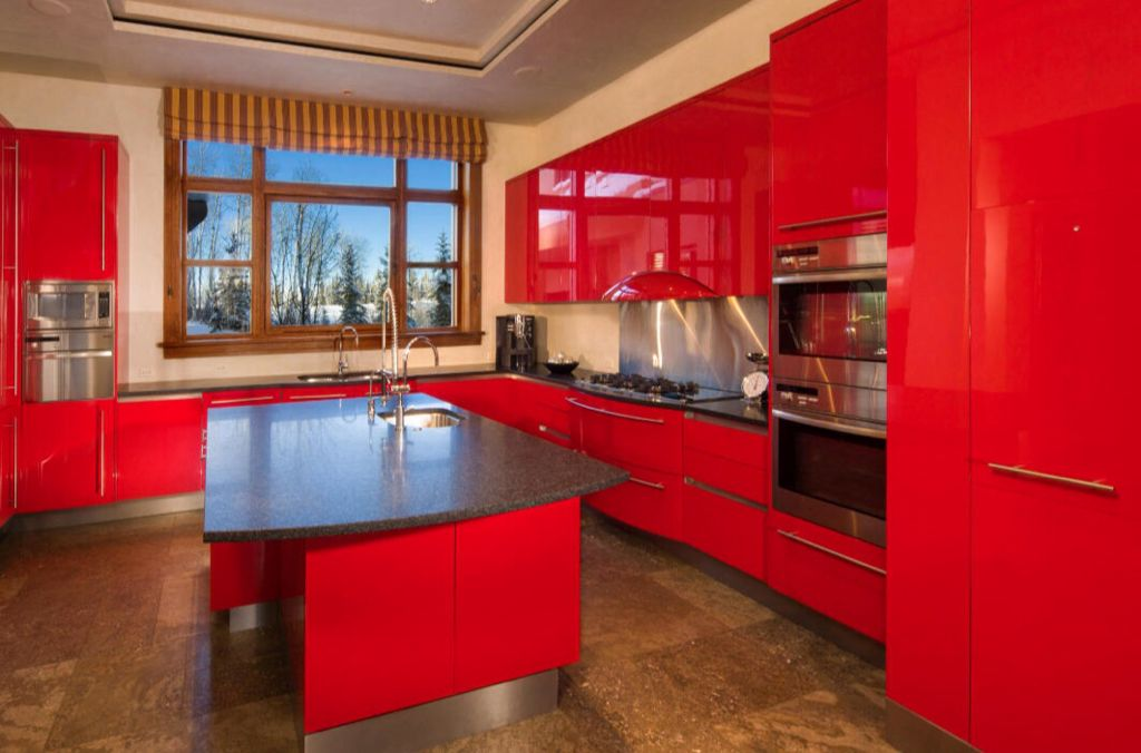 4 Tags Contemporary Kitchen With U Shaped, European Cabinets, Eco Cork  Organico, Slate