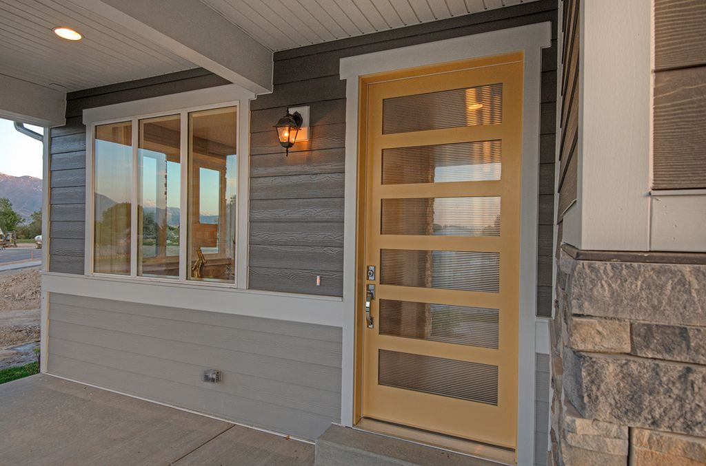 Contemporary Front Door With Exterior Stone Floors, Simpson Door Company  Contemporary Thermal 7405
