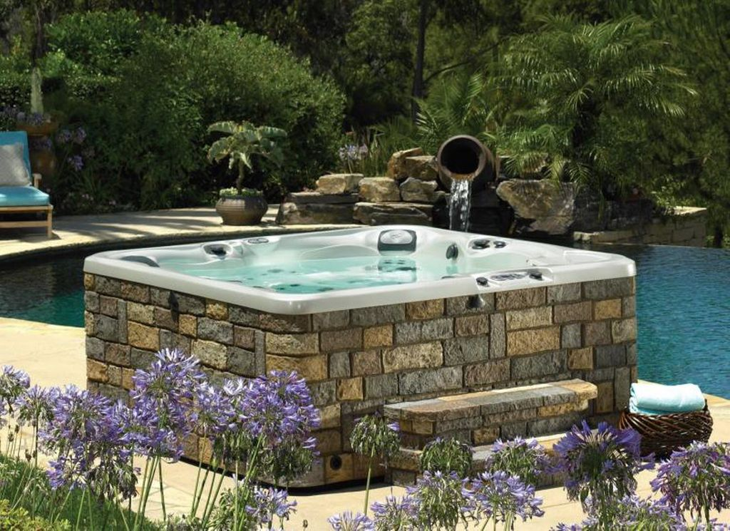 Traditional Hot Tub with Fountain by Carolina Home Exteriors ...