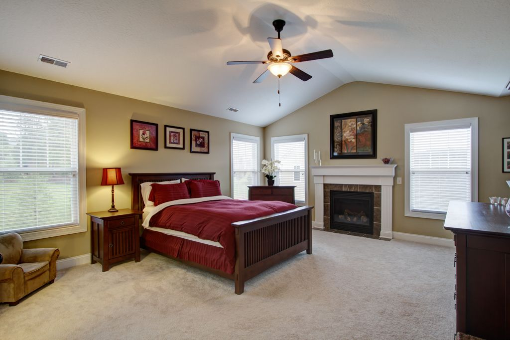 Traditional Master Bedroom With Cathedral Ceiling Ceiling Fan In North Canton Oh Zillow