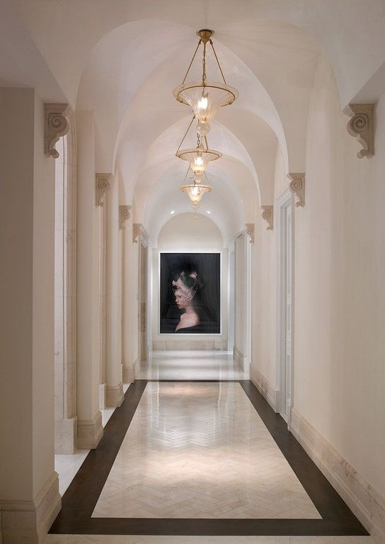 Mediterranean Hallway With Pendant Light Amp High Ceiling Zillow Digs Zillow