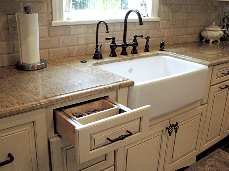 Country Kitchen with e wall & Farmhouse Sink Zillow Digs