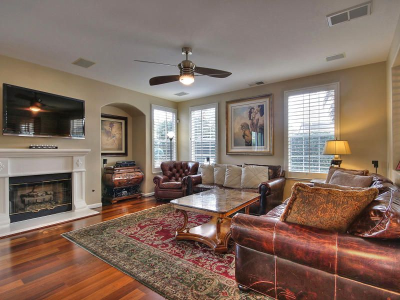 Fireplace Design fireplace cement : Traditional Family Room with Hardwood floors & Cement fireplace in ...