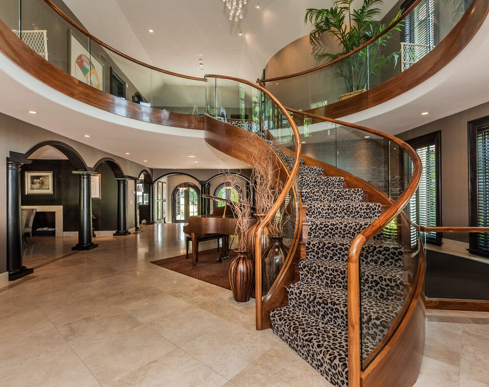 Staircase with High ceiling Balcony in Longmeadow MA Zillow