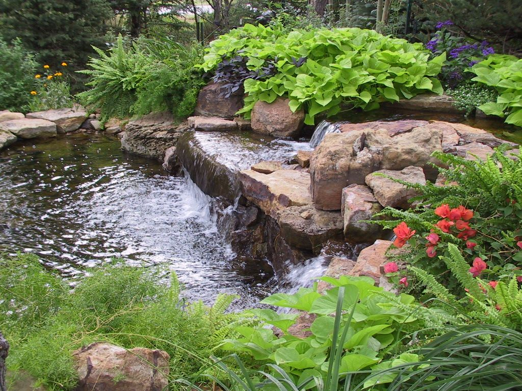 Rustic Landscape And Yard With Pond By Personal Touch Inc Zillow Digs Zillow
