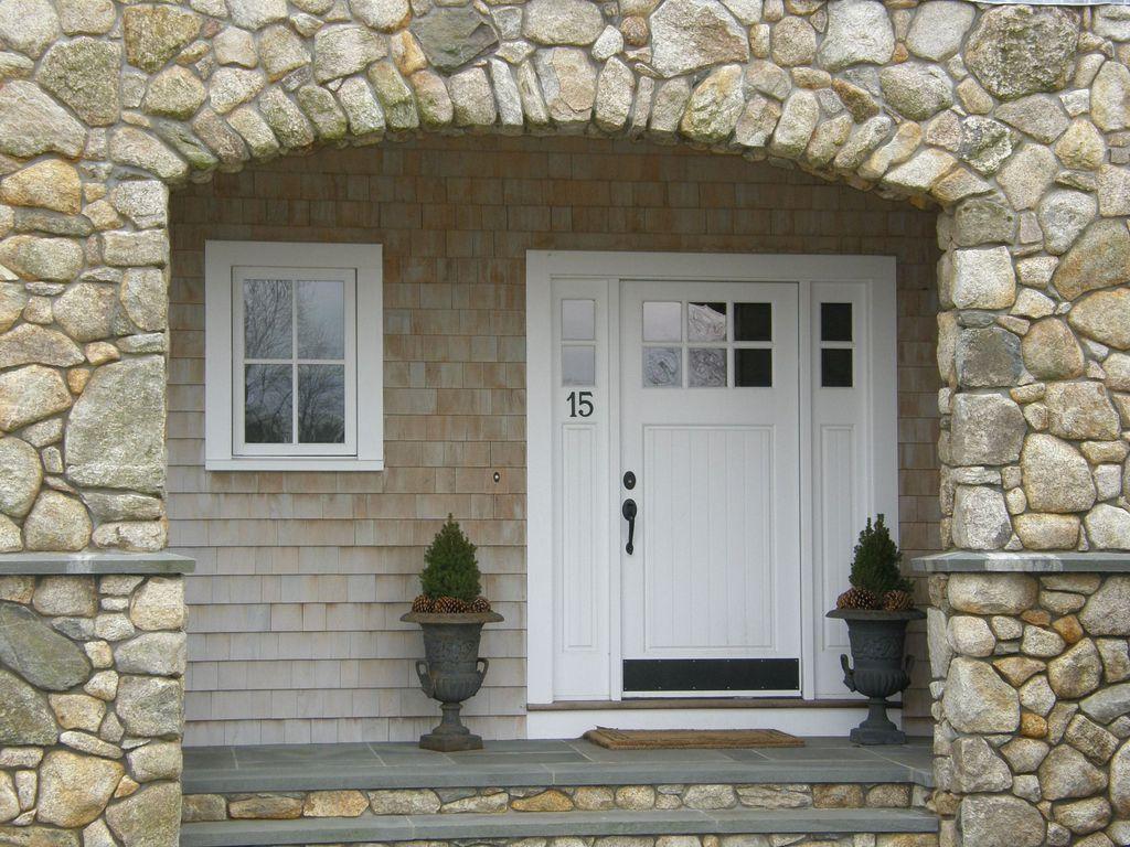 Cottage Front Door With Transom Window Glass Panel Door In Hingham Ma Zillow Digs Zillow