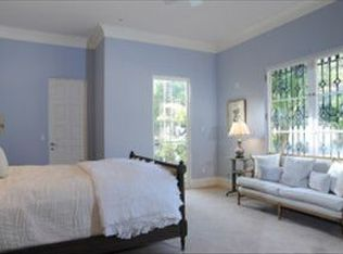 Modern Guest Bedroom With Crown Molding Amp Balcony In Santa