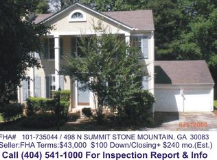 498 N Summit , Stone Mountain GA