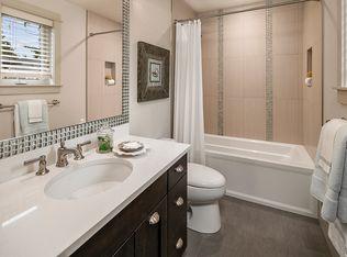 Full Bathroom With Rain Shower Head Amp Slate Tile Floors In