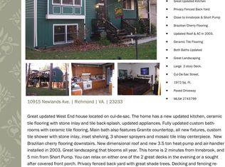 10915 Newlands Ave , Richmond VA