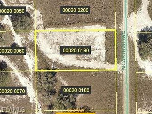 null bed null bath Vacant Land at 1713 MCARTHUR AVE LEHIGH ACRES, FL, 33972 is for sale at 7k - google static map