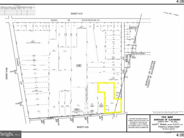 null bed null bath Vacant Land at 000 Chestnut Ct Glassboro, NJ, 08028 is for sale at 110k - 1 of 7
