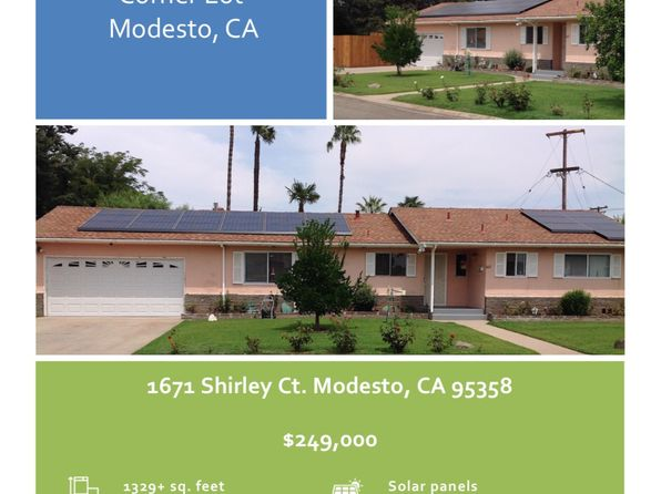 3 bed 2 bath Single Family at 1671 Shirley Ct Modesto, CA, 95358 is for sale at 249k - 1 of 20
