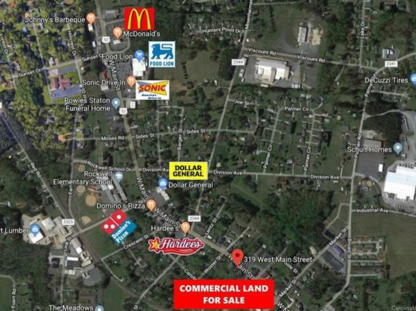 null bed null bath Vacant Land at 319 W Main St Rockwell, NC, 28138 is for sale at 190k - 1 of 14