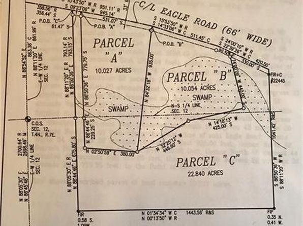 null bed null bath Vacant Land at  Parcel C Eagle Rd Rose Twp, MI, 48442 is for sale at 175k - google static map