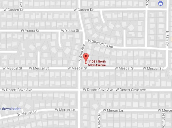 4 bed 3 bath Single Family at 11021 N 53rd Ave Glendale, AZ, 85304 is for sale at 260k - google static map