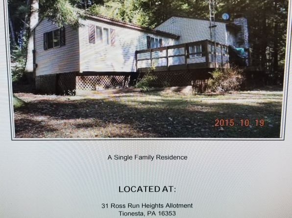 2 bed 1 bath Single Family at 31 Ross Run Area - Hemlock Lane Tionesta, PA, 16353 is for sale at 70k - 1 of 5