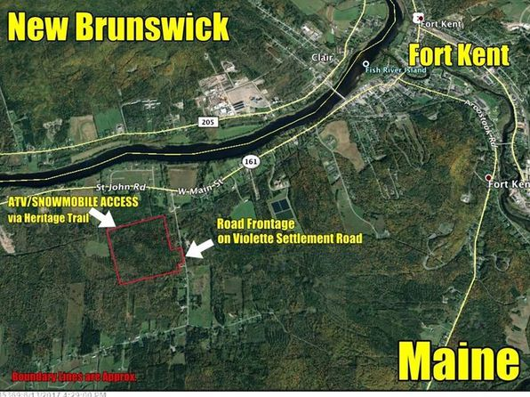 null bed null bath Vacant Land at 70 Violette Settlement Rd Fort Kent, ME, 04743 is for sale at 46k - 1 of 2