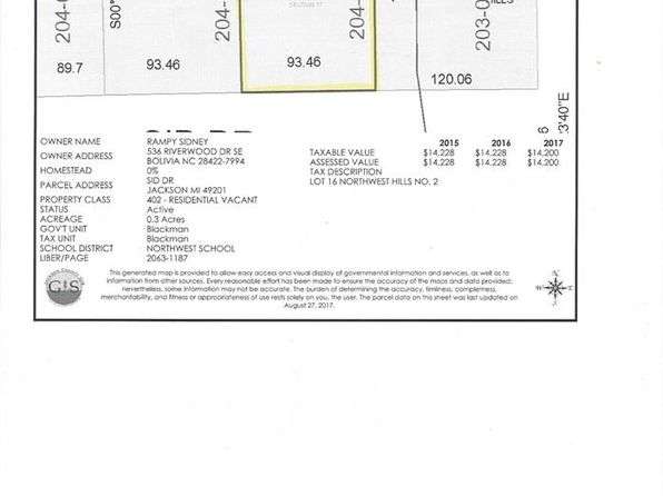 null bed null bath Vacant Land at  Sid Dr Jackson, MI, 49201 is for sale at 25k - google static map