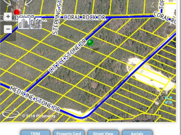 null bed null bath Vacant Land at  LITTLE STONE DR WEBSTER, FL, 33597 is for sale at 17k - google static map