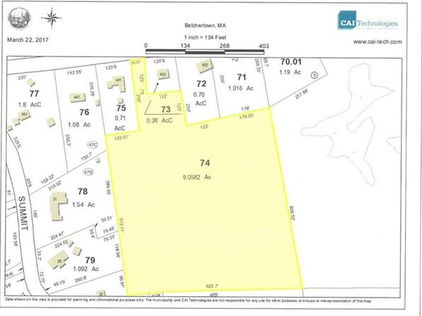 null bed null bath Vacant Land at 74 State St Belchertown, MA, 01007 is for sale at 155k - google static map