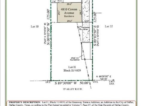 null bed null bath Vacant Land at 4810 Cowan Ave Dallas, TX, 75209 is for sale at 229k - google static map