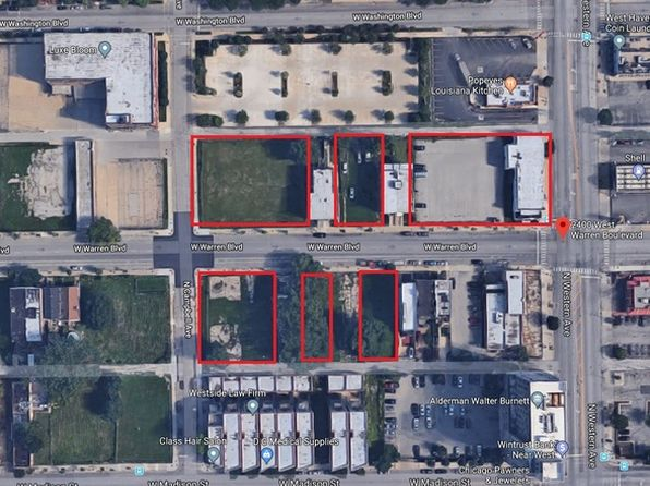 null bed null bath Vacant Land at 2400 W Warren Blvd Chicago, IL, 60612 is for sale at 1.50m - google static map