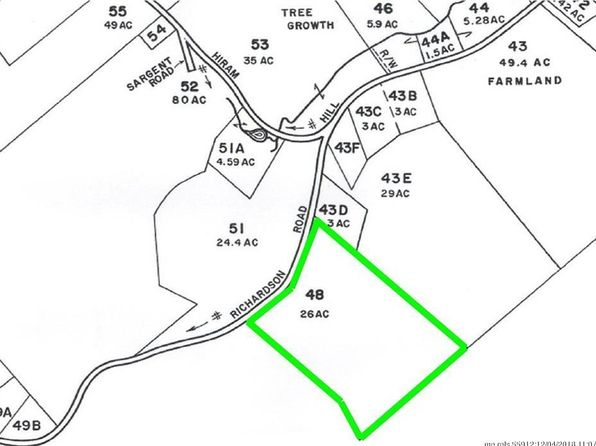 Hiram Maine Map.Hiram Me Land Lots For Sale 20 Listings Zillow