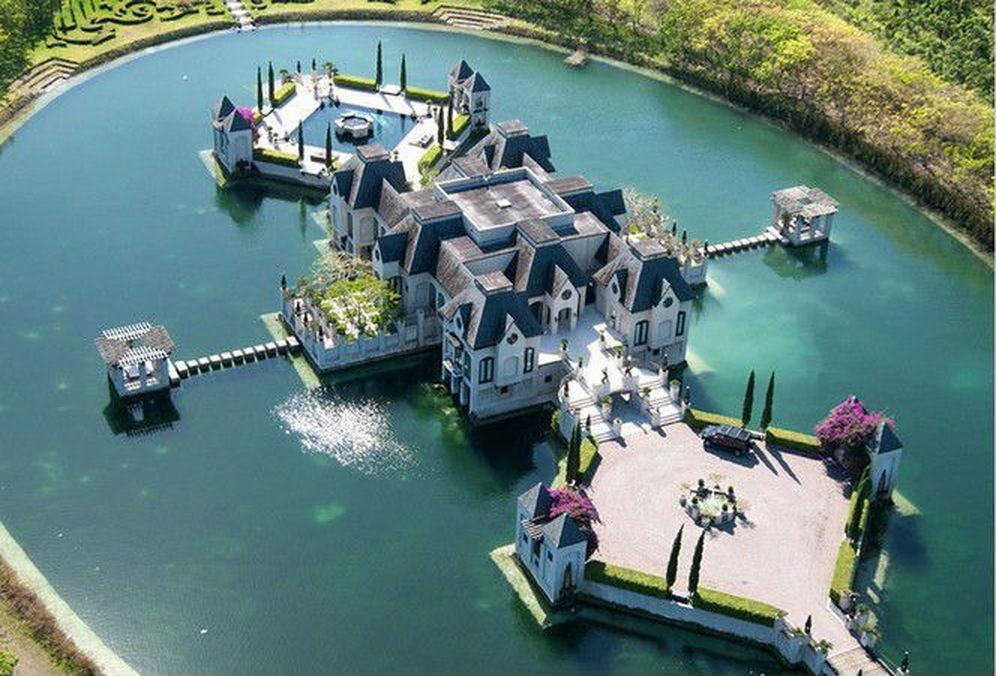 $4M House Built on its own Moat in Florida