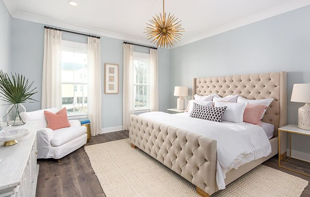 Light blue walls paint color for the bedroom, bedroom in ...