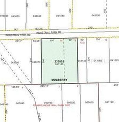 Mulberry Florida Map.1360 Industrial Park Rd Mulberry Fl 33860 Zillow