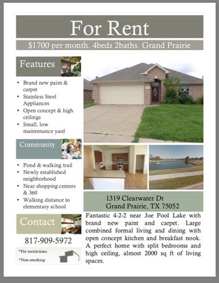 . 1319 Clearwater Dr  Grand Prairie  TX 75052   Zillow