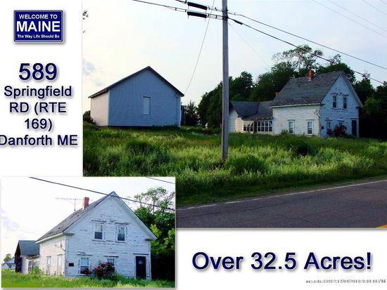 Danforth Maine Map.589 Springfield Rd Danforth Me 04424 Zillow
