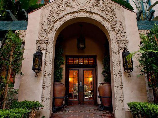 Historic Los Altos Apartments Courtyard Fountain Front Entrance