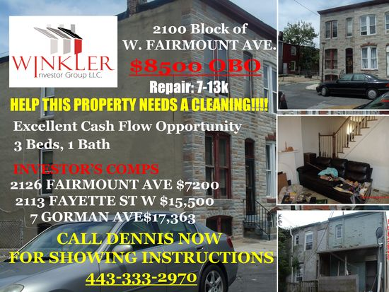 2132 W Fairmount Ave Baltimore Md 21223 Zillow