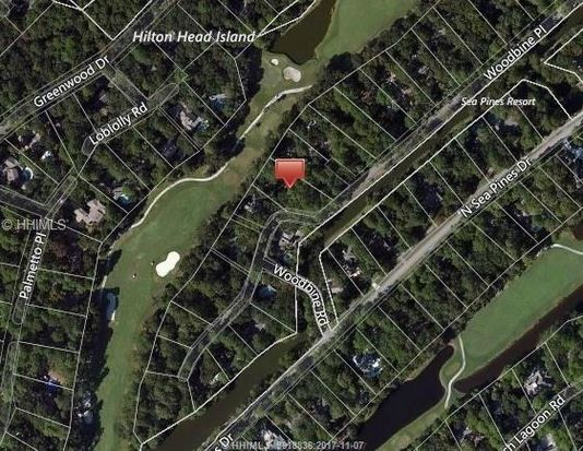 Woodbine Pl Hilton Head Island SC Zillow - Map of sea pines hilton head island