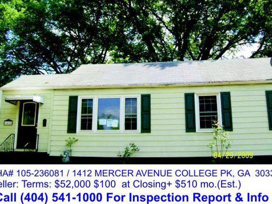 1412 Mercer Ave College Park GA 30337