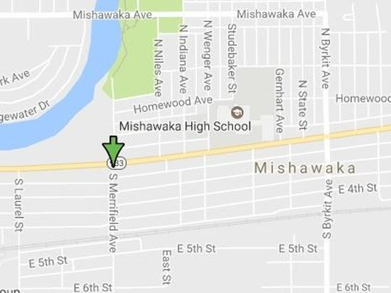 Mishawaka Zip Code Map.115 S Merrifield Ave Mishawaka In 46544 Zillow