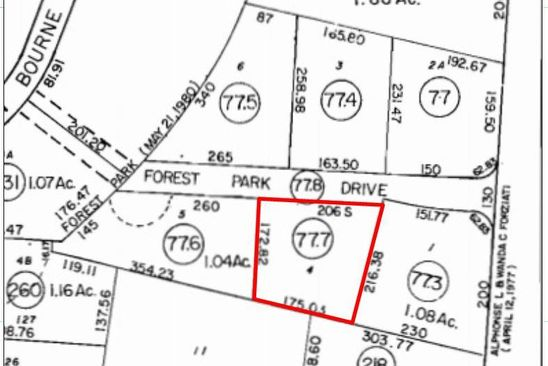 null bed null bath Vacant Land at 3 Forest Park Dr Pocasset, MA, 02559 is for sale at 449k - google static map