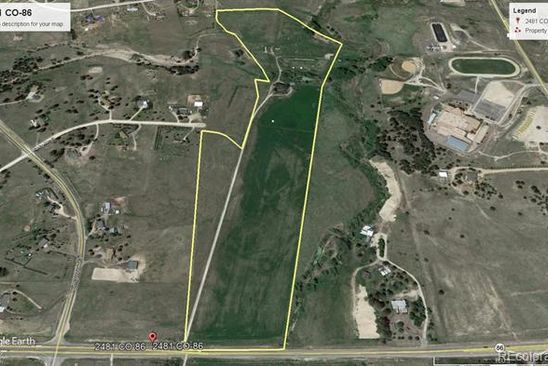 null bed null bath Vacant Land at 2481 HIGHWAY 86 ELIZABETH, CO, 80107 is for sale at 990k - google static map