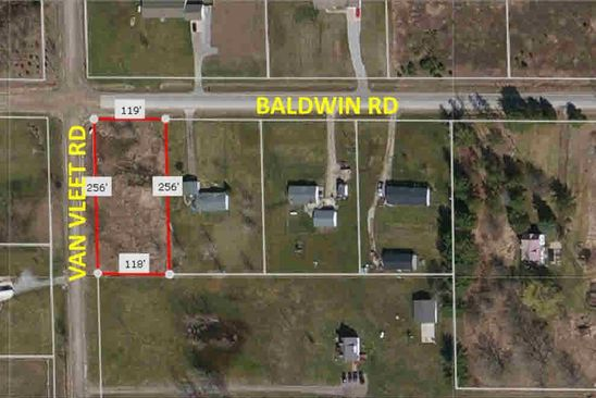 null bed null bath Vacant Land at 9525 Baldwin Rd Gaines, MI, 48436 is for sale at 12k - google static map